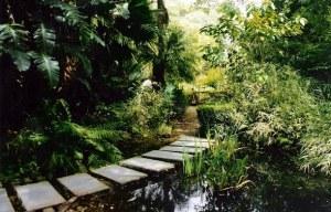 Jardin pavés mare